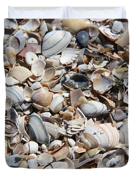 Seashells On The Beach Duvet Cover