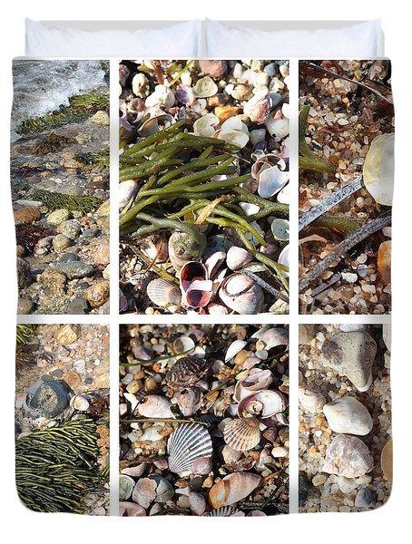 Seashore Collage Duvet Cover by Carol Groenen
