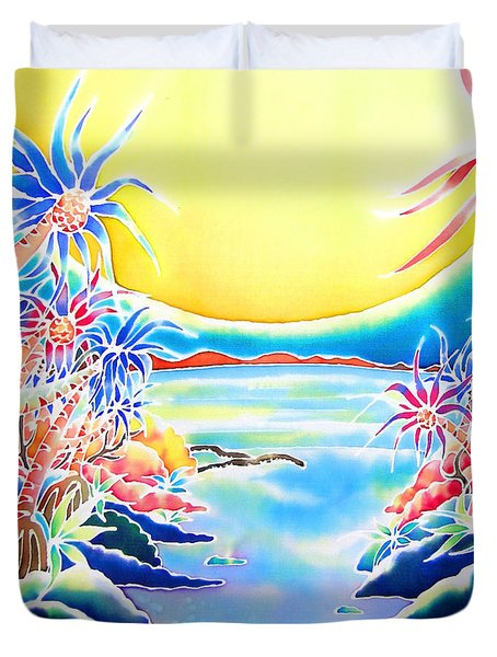Seashore In The Moonlight Duvet Cover