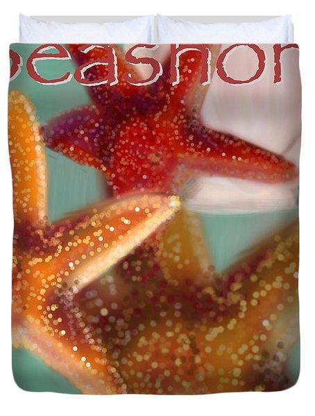 Seashore Poster Duvet Cover by Christine Fournier
