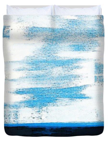 Seaside - Abstract Modern Art By Sharon Cummings Duvet Cover by Sharon Cummings