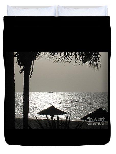 Seaside Dinner For Two Duvet Cover by Patti Whitten