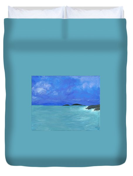 Seaside Duvet Cover by Elizabeth Sullivan