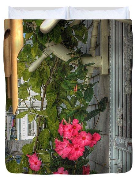 Seaside Porch Duvet Cover by Joann Vitali
