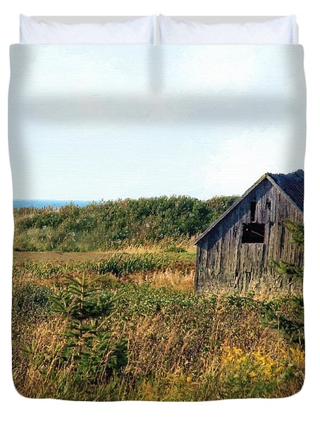 Seaside Shed - September Duvet Cover by RC DeWinter