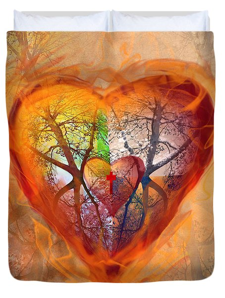 Season Of The Heart Duvet Cover