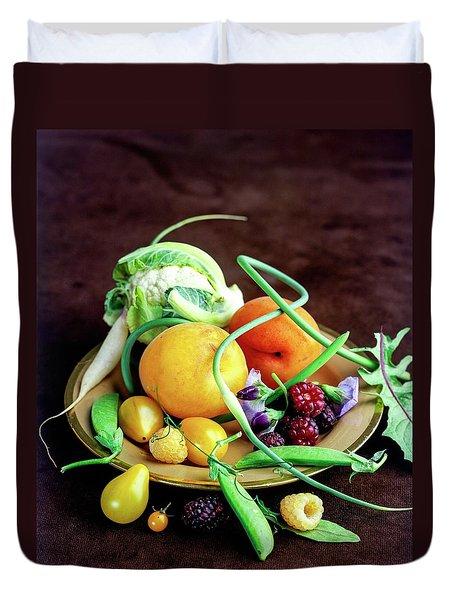 Seasonal Fruit And Vegetables Duvet Cover