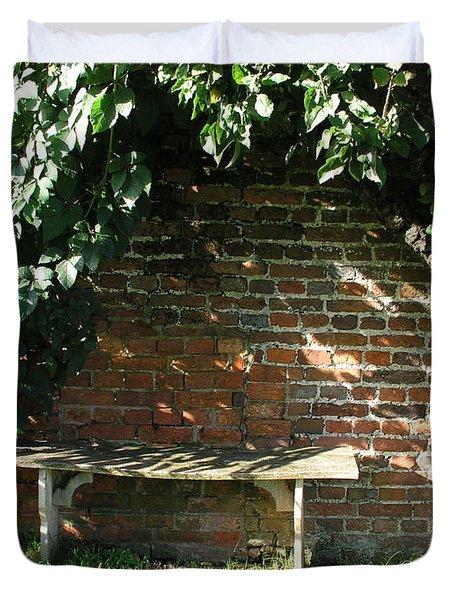 Seasoned Bench Duvet Cover by Bev Conover