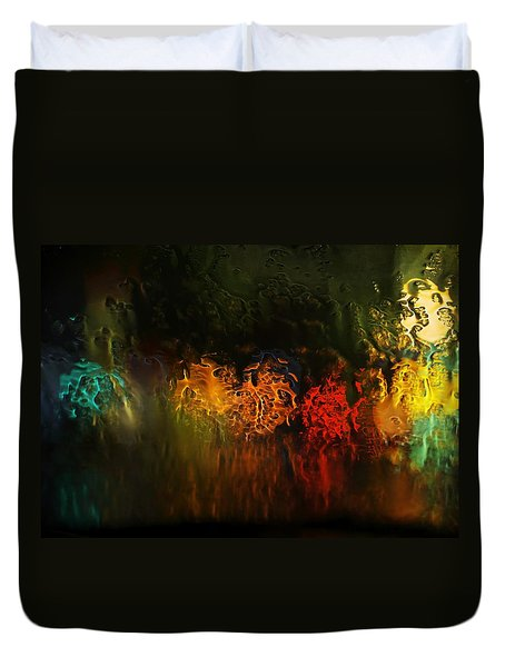 Seasons Fireballs Duvet Cover