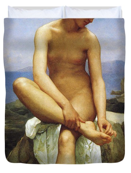 Seated Bather Duvet Cover by William Bouguereau