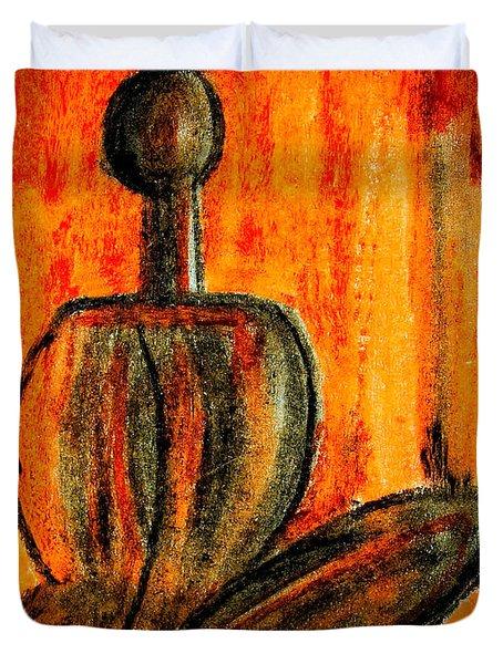 Seated Man Duvet Cover by Nirdesha Munasinghe