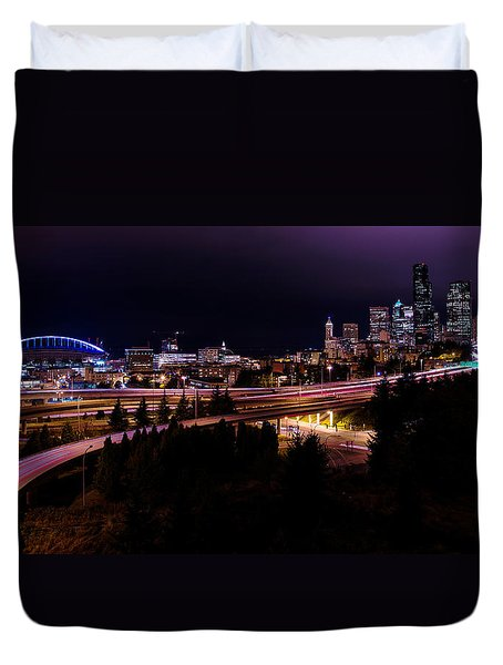 Seattle Bend Duvet Cover by Chad Dutson