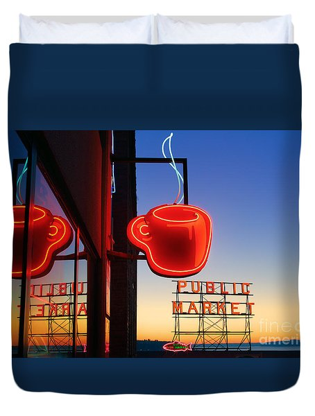 Seattle Coffee Duvet Cover