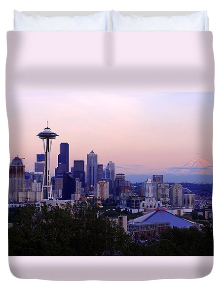 Seattle Dawning Duvet Cover by Chad Dutson