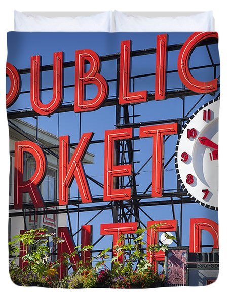 Seattle Market  Duvet Cover by Brian Jannsen