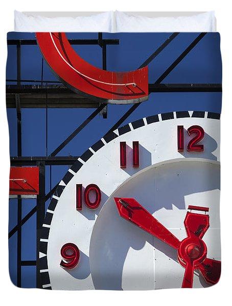 Seattle Market Sign Duvet Cover by Brian Jannsen
