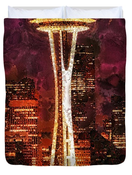 Seattle Duvet Cover by Mo T