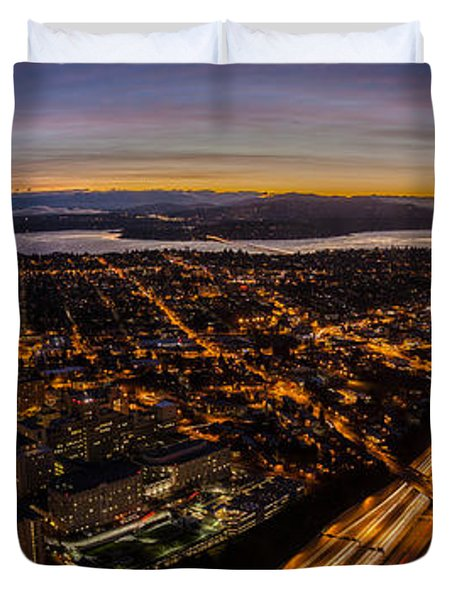 Seattle Morning View East Duvet Cover