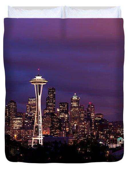 Seattle Night Duvet Cover