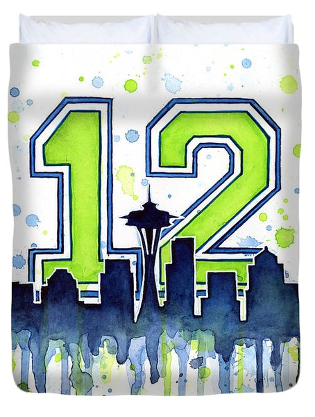 Seattle Seahawks 12th Man Art Duvet Cover
