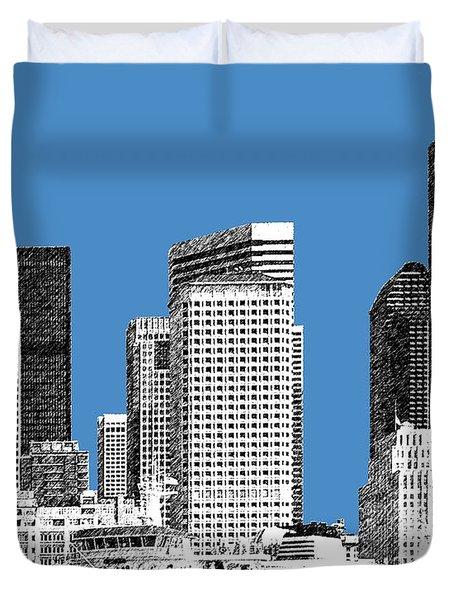 Seattle Skyline - Slate Duvet Cover
