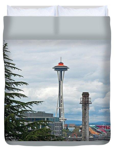 Seattle Spaceneedle Golden Anniversary Art Prints Duvet Cover