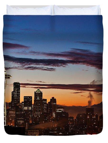 Seattle Sunrise Duvet Cover
