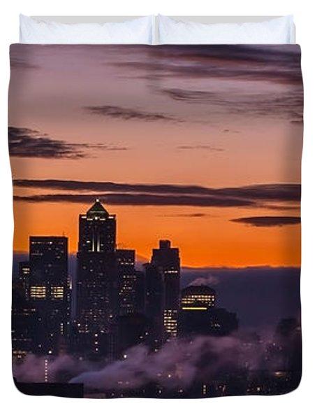 Seattle Sunrise Purples Duvet Cover