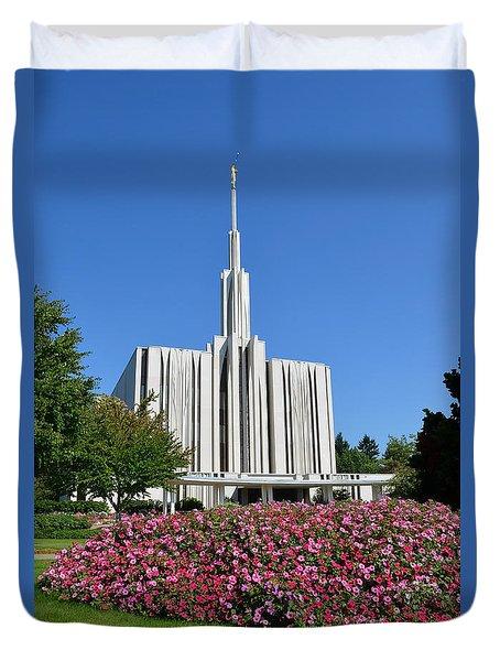 Seattle Temple Duvet Cover