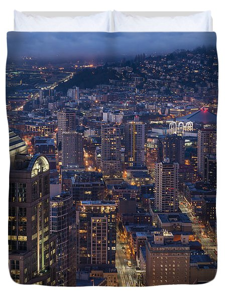 Seattle Urban Details Duvet Cover by Mike Reid