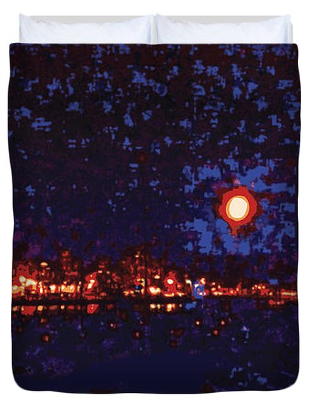 Seattle Waterfront, No. 1 Duvet Cover by James Kramer