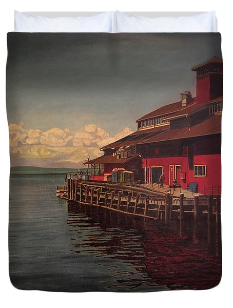 Seattle Waterfront Duvet Cover by Thu Nguyen