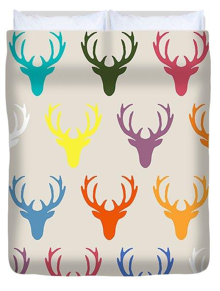 Seaview Simple Deer Heads Duvet Cover