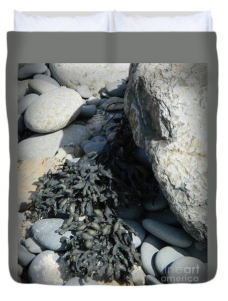 Seaweed And Rocks  Duvet Cover by Chalet Roome-Rigdon