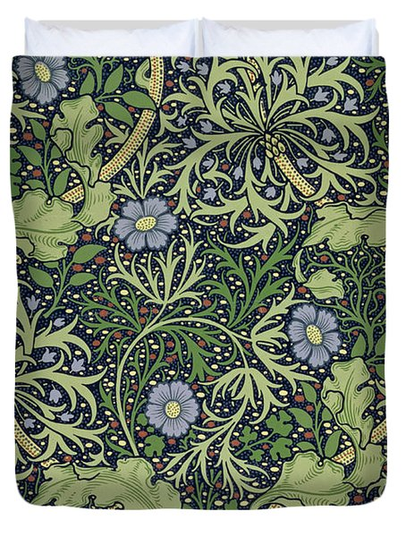 Seaweed Wallpaper Design Duvet Cover by William Morris
