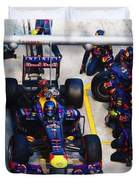 Sebastian Vettel Of Germany Duvet Cover
