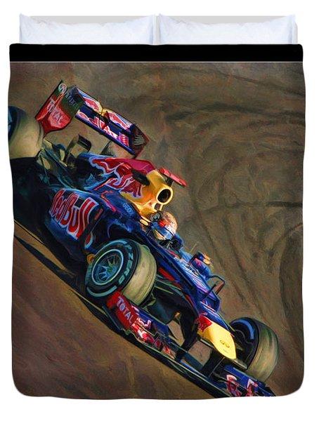 Sebastian Vettel - Red Bull Duvet Cover