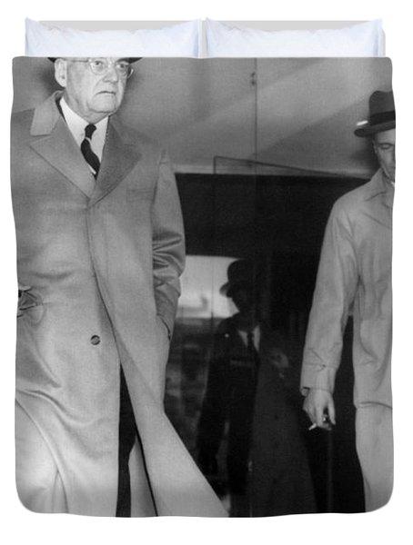 Sec. State John Foster Dulles Duvet Cover