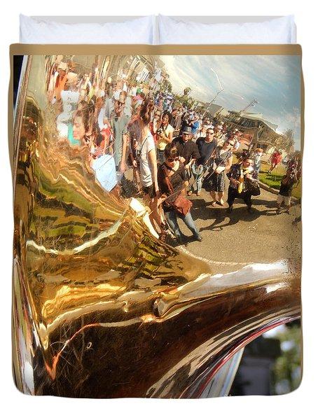 Second Line Tuba Duvet Cover
