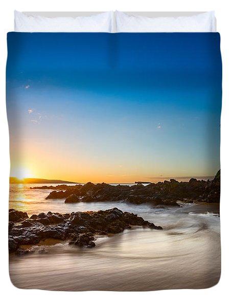 Secret Beach Sunset Duvet Cover