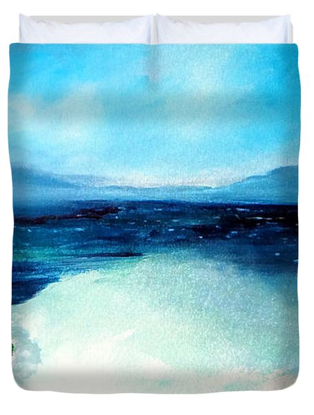 Secret Beach Surf Art Duvet Cover