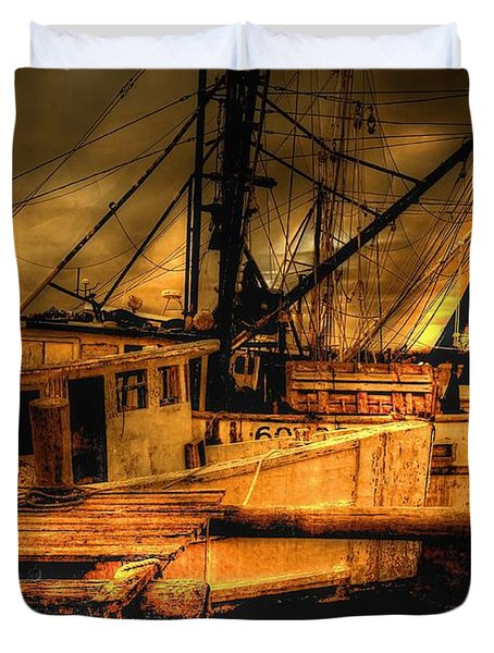 Duvet Cover featuring the photograph Secret Catch by Dennis Baswell