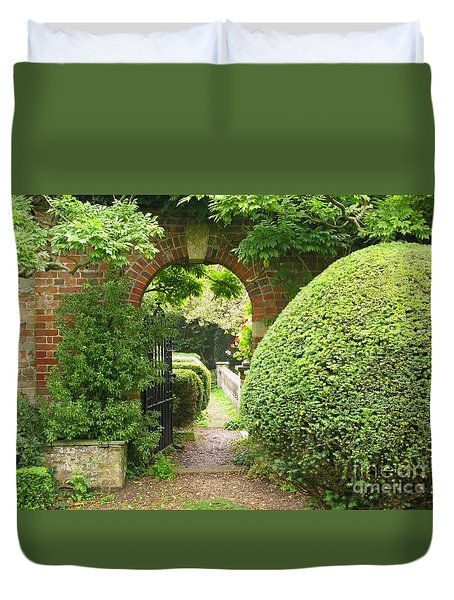 Secret English Garden Duvet Cover by Ann Horn