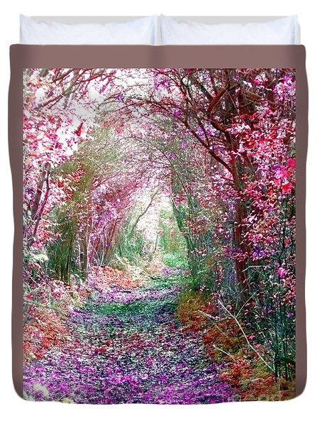 Duvet Cover featuring the photograph Secret Garden by Vicki Spindler