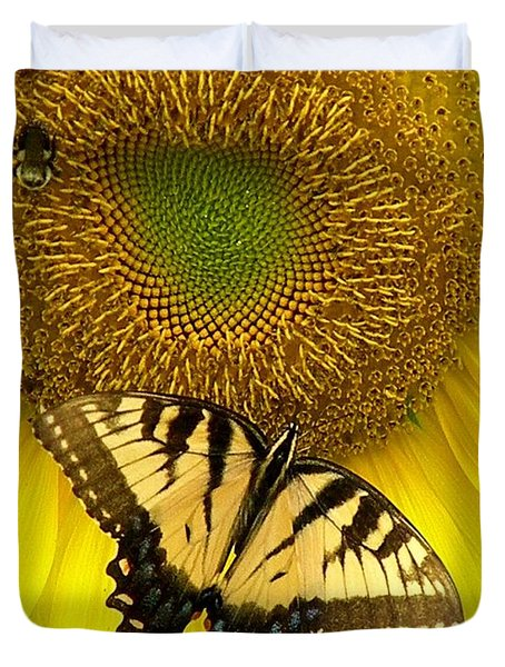 Secret Lives Of Sunflowers Duvet Cover