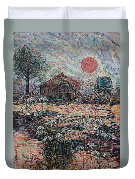 Sedgy Pond Duvet Cover