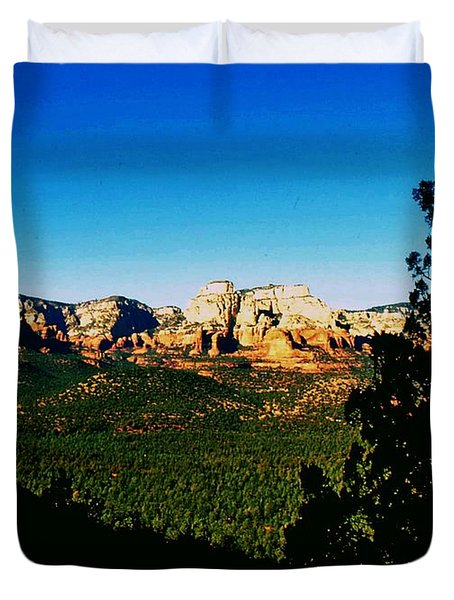 Duvet Cover featuring the photograph Sedona Arizona by Gary Wonning