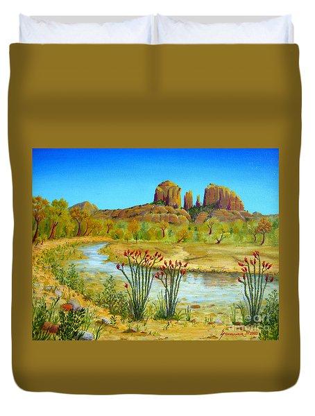 Sedona Arizona Duvet Cover by Jerome Stumphauzer