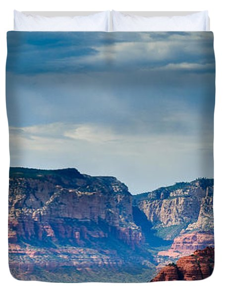 Sedona Arizona Panorama Duvet Cover