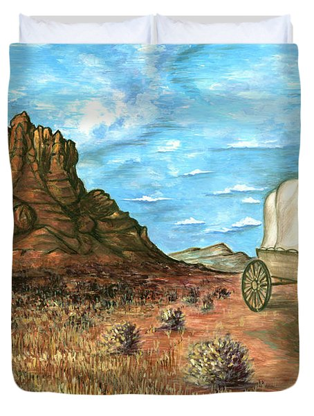 Sedona Arizona - Western Art Painting Duvet Cover